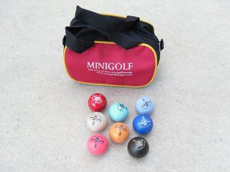 8 Minigolfbälle, Spezialbälle für Hobbyspieler mit kleiner Balltasche