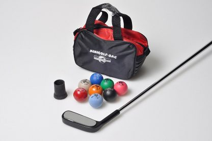 Minigolf Set 1 (=Schläger, Bälle, Tasche, Sauger)