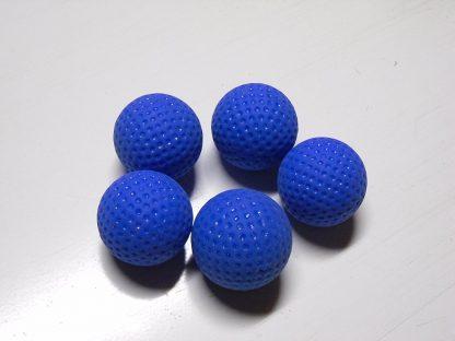 Minigolfbälle 5 blaue genoppte Anlagenbälle
