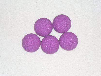 Minigolfbälle 5 fliederfarbene genoppte Anlagenbälle