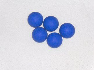 Minigolfbälle, 5 glatte blaue Anlagenbälle