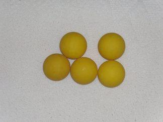 Minigolfbälle, 5 glatte gelbe Anlagenbälle
