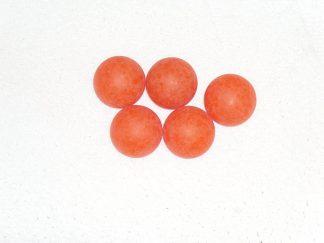 Minigolfbälle, 5 glatte orange Anlagenbälle