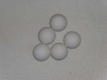 Minigolfbälle, 5 glatte weiße Anlagenbälle