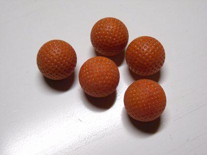 Minigolfbälle 5 orange genoppte Anlagenbälle