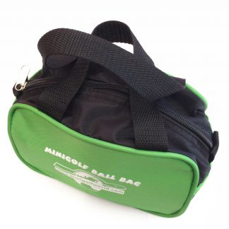 Kleine Minigolf Balltasche für ca. 15 Bälle, Schwarz - Grün