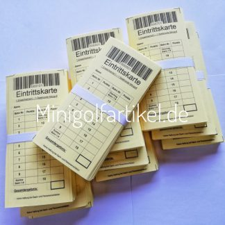 Minigolf Eintrittskarten für Erwachsene, 1000 Stück-1