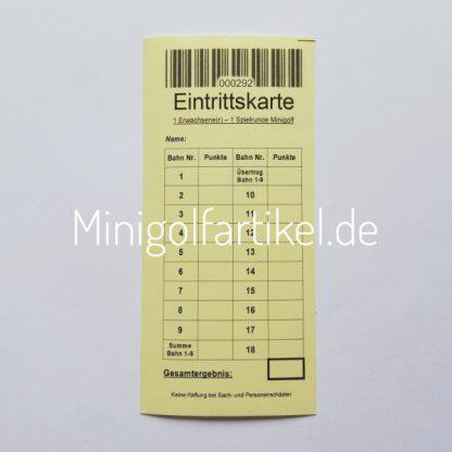 Minigolf Eintrittskarten für Erwachsene, 1000 Stück-2