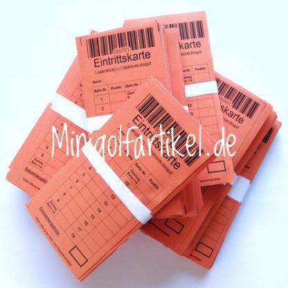 Minigolf Eintrittskarten für Kinder und Jugendliche, 1000 Stück-1