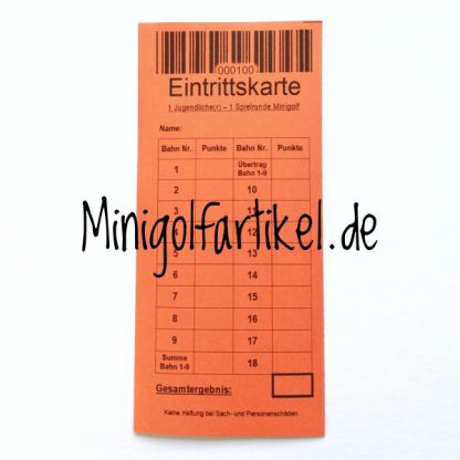 Minigolf Eintrittskarten für Kinder und Jugendliche, 1000 Stück-2