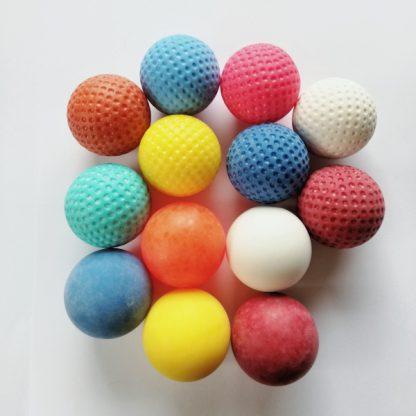 Minigolfbälle 13er Set mit genoppten & glatten Anlagenbällen