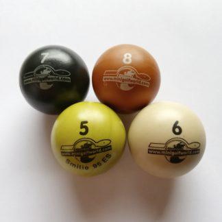 Minigolfbälle 4er Set B, Spezialbälle für Hobbyspieler