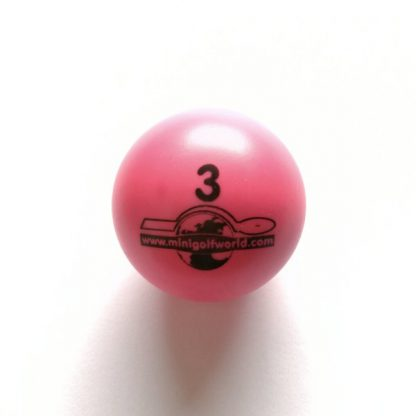 Minigolfball Nr. 3, Spezialball für Hobbyspieler