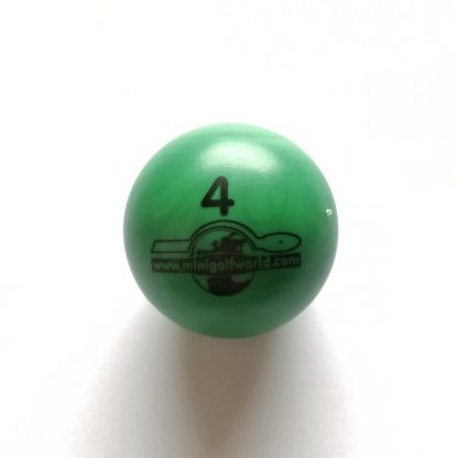 Minigolfball Nr. 4, Spezialball für Hobbyspieler