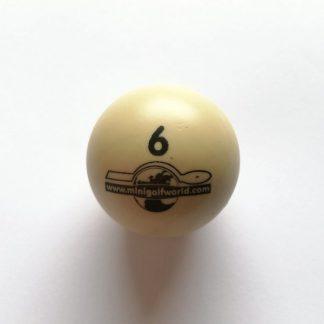 Minigolfball Nr. 6, Spezialball für Hobbyspieler