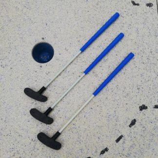 Qualitäts Minigolfschläger, 3 Stück, 55cm