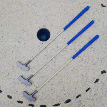 Qualitäts Minigolfschläger, 3 Stück, 65cm