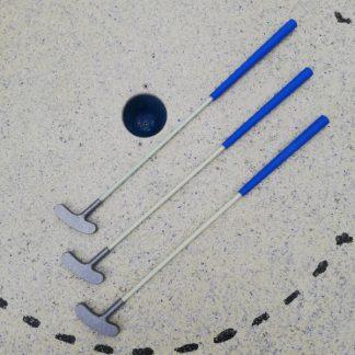 Qualitäts Minigolfschläger, 3 Stück, 75cm