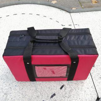 Ballcontainer für 180 Minigolfbälle rot - 1