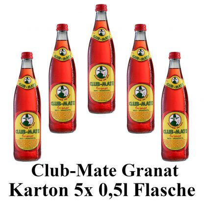 Club-mate Granatapfel 5 Flaschen je 0,5l