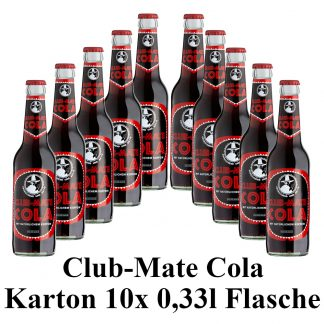 Club-mate Cola 10 Flaschen je 0,33l