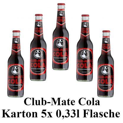 Club-mate Cola 5 Flaschen je 0,33l