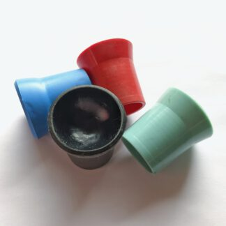 Ballaufheber Sauger für Minigolfbälle 4 Stück, schwarz, rot, blau & türkis