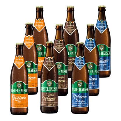 Distelhäuser Bierpaket Dunkles Weizen, Weizen hell und Weizen alkoholfrei