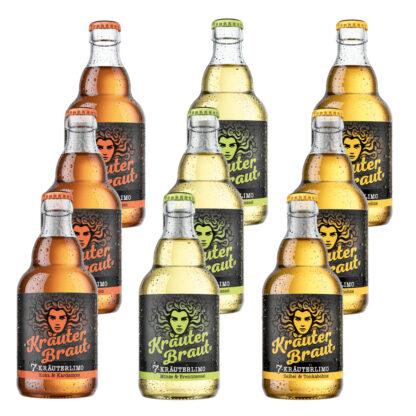 Kräuterbraut Limonade Probietpaket 9 Flaschen je 0,33l