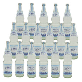Schatzquelle spritzig Mineralwasser 17 Flaschen je 0,7l