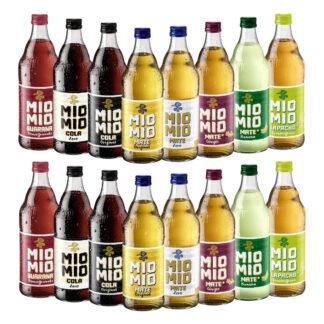 Mio Mio Limonade Probierpaket 16 Flaschen je 0,5l