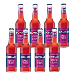 Bionade Himbeer-Pflaume 8 Flaschen je 0,33l