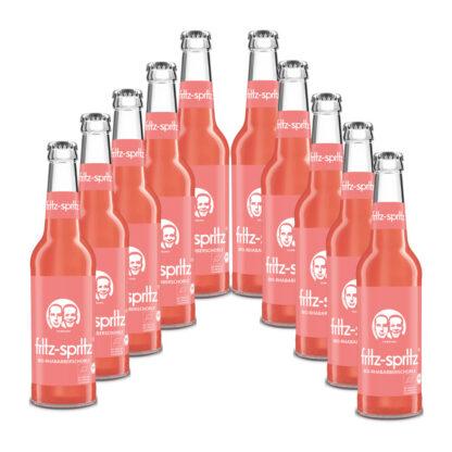 fritz-spritz Bio-Rhabarberschorle 10 Flaschen je 0,33l