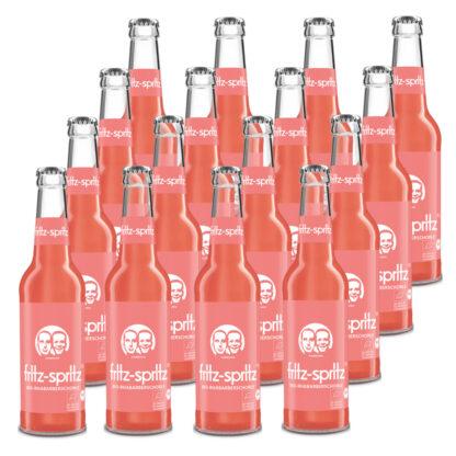 fritz-spritz Bio-Rhabarberschorle 16 Flaschen je 0,33l