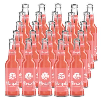 fritz-spritz Bio-Rhabarberschorle 25 Flaschen je 0,33l