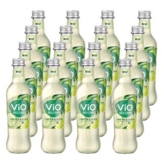 Vio Bio Limo Limette & Gurke 16 Flaschen je 0,3l