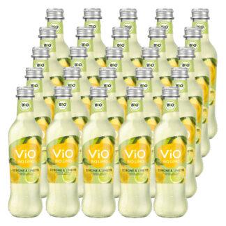 Vio Bio Limo Zitrone & Limette 25 Flaschen je 0,3l