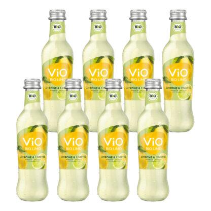 Vio Bio Limo Zitrone & Limette 8 Flaschen je 0,3l
