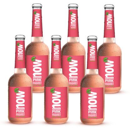 Now Pink Rhabarber Bio Limonade by Lammsbräu 6 Flaschen