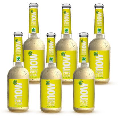 Now Pure Zitrone Bio Limonade by Lammsbräu 6 Flaschen