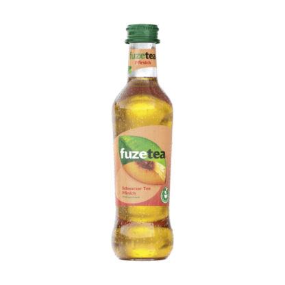 Fuze Tea Schwarzer Tee Pfirsich 0,3l Glasflasche