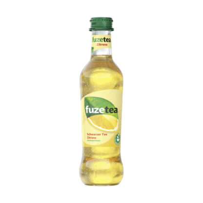 Fuze Tea Schwarzer Tee Zitrone 0,3l Glasflasche