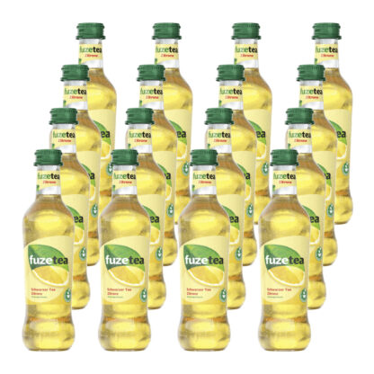 Fuze Tea Schwarzer Tee Zitrone 16 Flaschen je 0,33l