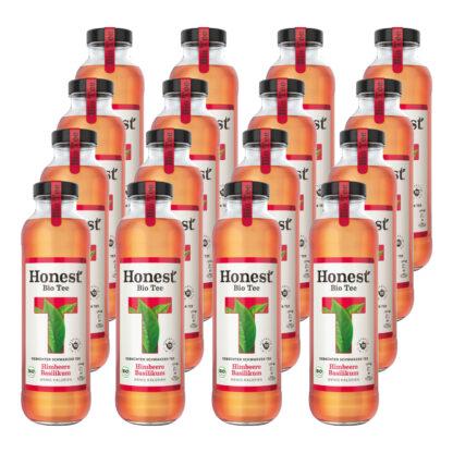 Hontest Bio Tee Himbeere Basilikum 16 Flaschen je 0,33l