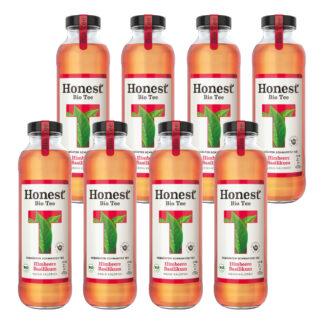 Hontest Bio Tee Himbeere Basilikum 8 Flaschen je 0,33l