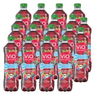 Vio Bio Limo Dark Berries 18 rPET-Flaschen je 0,5l